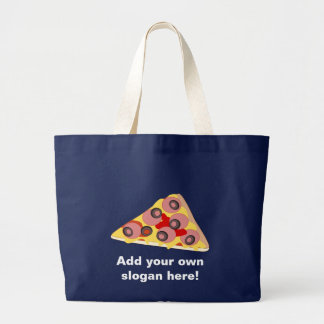 Customize this Pizza Slice graphic Large Tote Bag