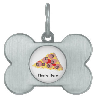 Customize this Pizza Slice graphic Pet ID Tag