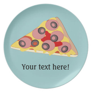 Customize this Pizza Slice graphic Plate