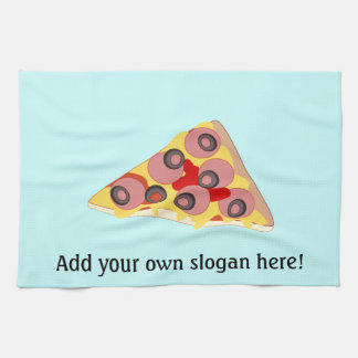 Customize this Pizza Slice graphic Tea Towel