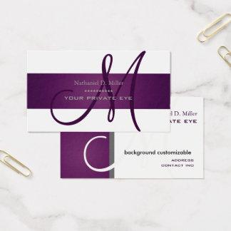 Customize this Plum Monogram/DIY background color Business Card