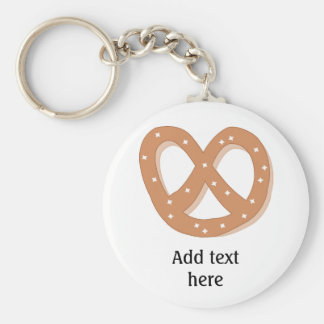 Customize this Pretzel Knot graphic Basic Round Button Key Ring