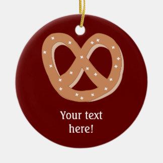 Customize this Pretzel Knot graphic Christmas Ornament
