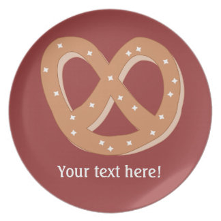 Customize this Pretzel Knot graphic Plate