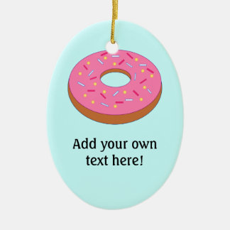 Customize this Ring Doughnut Graphic Christmas Ornament