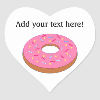 Customize this Ring Doughnut Graphic Heart Sticker