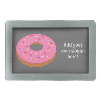 Customize this Ring Doughnut Graphic Rectangular Belt Buckle