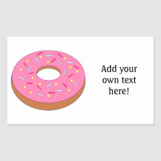 Customize this Ring Doughnut Graphic Rectangular Sticker