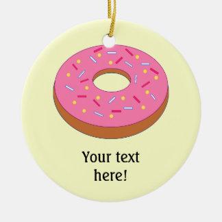 Customize this Ring Doughnut Graphic Round Ceramic Decoration