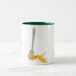 Customize this Spaghetti Pasta graphic Two-Tone Coffee Mug