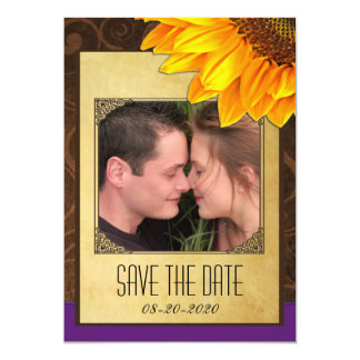 Customize to Your Photo Sunflower Save the Dates 13 Cm X 18 Cm Invitation Card