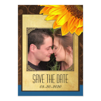 Customize to Your Photo Sunflower Save the Dates Card