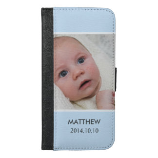 Customize with Your Boy Baby Photo - Blue Stylish