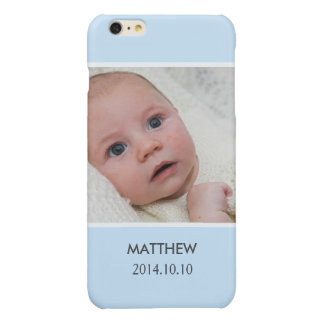 Customize with Your Boy Baby Photo - Blue Stylish iPhone 6 Plus Case