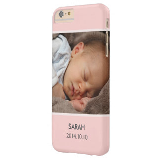 Customize with Your Girl Baby Photo - Pink Stylish Barely There iPhone 6 Plus Case