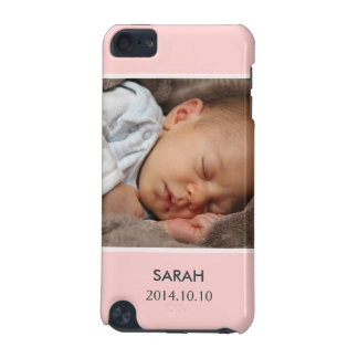 Customize with Your Girl Baby Photo - Pink Stylish iPod Touch 5G Cover
