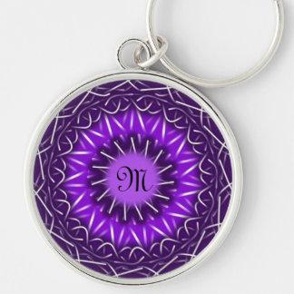 customize with your initial kaleidoscopic keychain