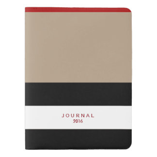 Customize With Your Text Taupe/BW Large Journal