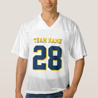 Customize Yellow and Blue Football Sports Jersey