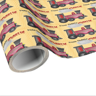 Customize your Birthday Train Wrapping Paper