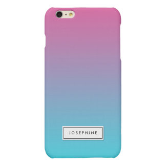 Customize Your Color Ombre Fade Matte Color iPhone 6 Plus Case