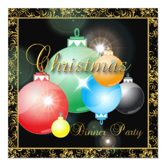 Customize your Cristmas Dinner Party Invitation