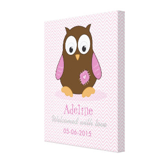 Customize your Hooter Pink and Blue Collection's Gallery Wrap Canvas