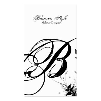 customize your monogram business card template