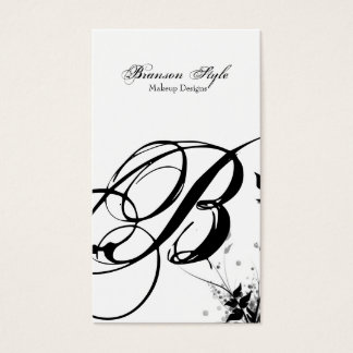 customize your monogram business card