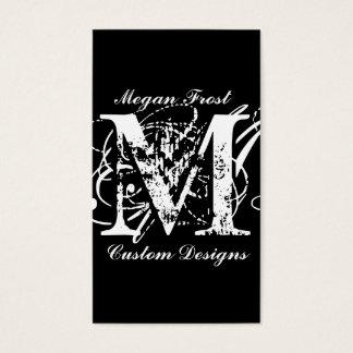 customize your monogram business card