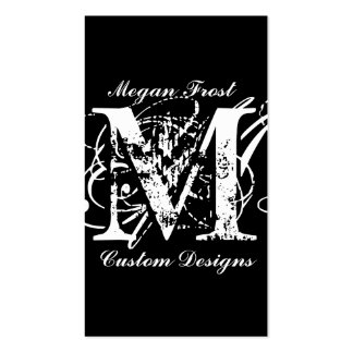 customize your monogram pack of standard business cards