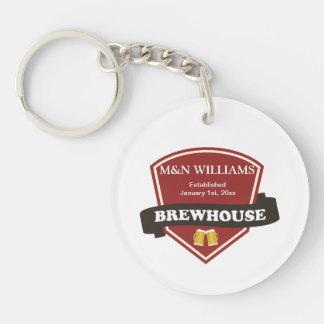 Customize Your Name Brewhouse Logo Acrylic Keychain