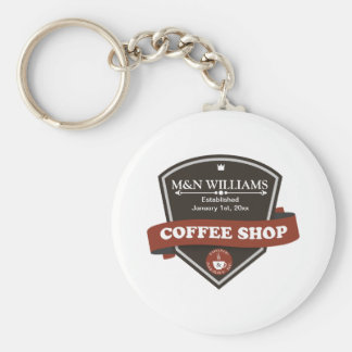 Customize Your Name Coffee Shop Logo Key Chains