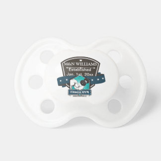 Customize Your Name Fitness Gym Logo Pacifiers