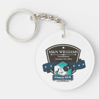 Customize Your Name Fitness Gym Logo Acrylic Keychain