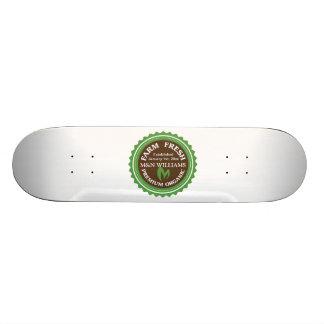 Customize Your Name Organic Farm Logo 18.1 Cm Old School Skateboard Deck
