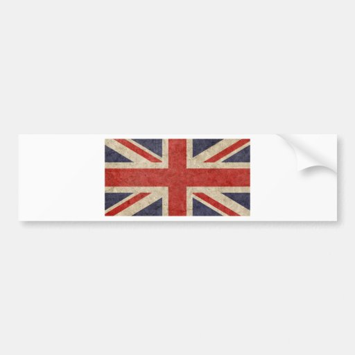 Customize Your Own: British Flag Bumper Sticker