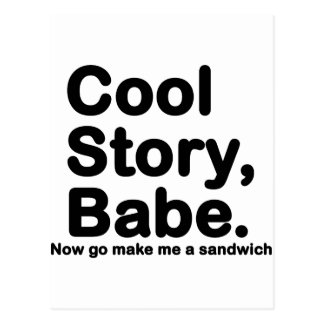 Customize Your Own Cool Story Bro Babe Postcard