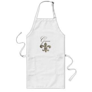Customize your own Fleur-de-lis design Long Apron