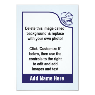 Customize Your Own Hockey Trading Card 11 Cm X 16 Cm Invitation Card