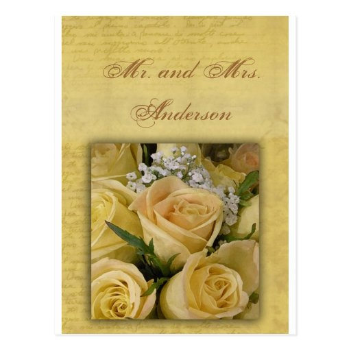 Customize your own Mr. and Mrs. card Postcard