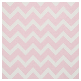 Customize your own pastel pink chevron pattern fabric