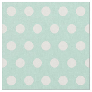 Customize your own polka dots pattern in mint fabric