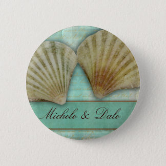 Customize your own seashell design 6 cm round badge