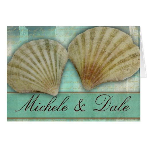 Customize your own seashell design card