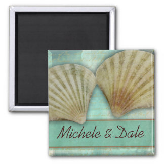 Customize your own seashell design magnet