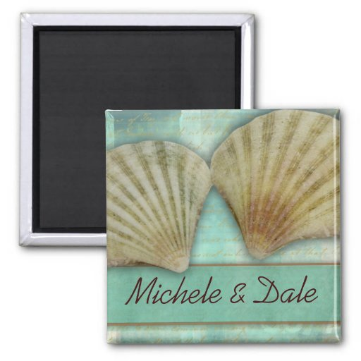Customize your own seashell design refrigerator magnet