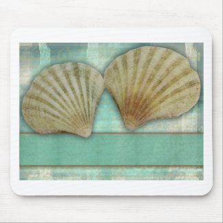 Customize your own seashell design mousepads