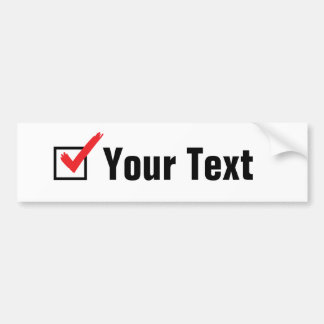 Customize Your Own Social Status - Personal Ad Bumper Sticker