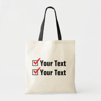Customize Your Own Status - Personal Ad Budget Tote Bag